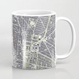 Mexico city map engraving Coffee Mug