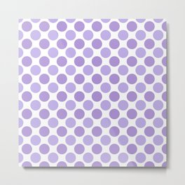 Modern trendy lavender lilac hipster polka dots Metal Print