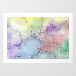 Soft Cracks  Art Print