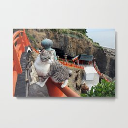 Cats will visit the shrine Metal Print