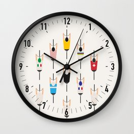 Bicycle squad Wall Clock