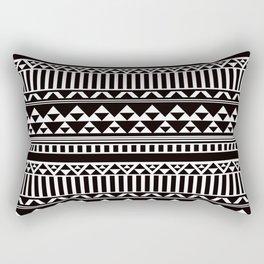 Mountain Stripe Kilim in Black + White Rectangular Pillow