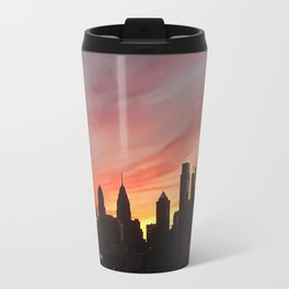 philadelphia skyline at sunset Travel Mug