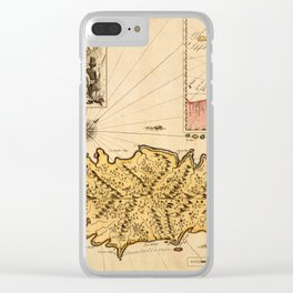 Map Of Tobago 1680 Clear iPhone Case