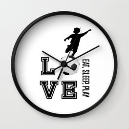 Eat, Sleep, Play  Love Volleyball Wall Clock