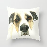 floyd Throw Pillows featuring Floyd by Carolyn Campbell