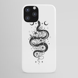 Serpent Spell -Black and White iPhone Case