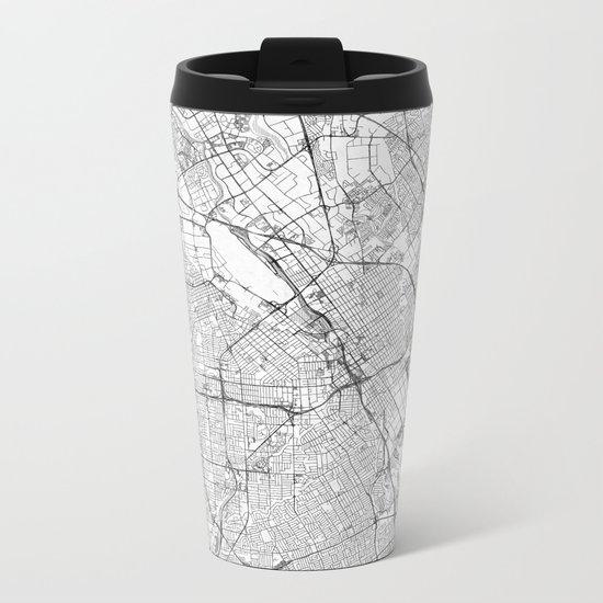 San Jose Map Line Metal Travel Mug