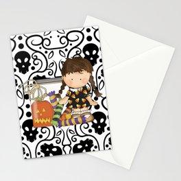 Halloween Skull Girl Stationery Cards