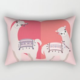 Llama and Alpaca with love Rectangular Pillow