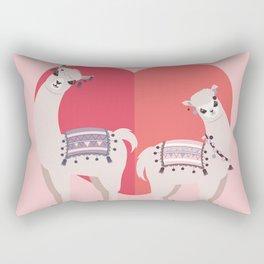 Llama and Alpaca with love Rectangular Pillow