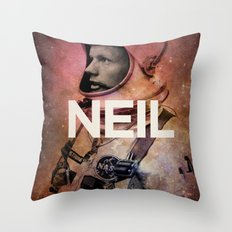 Neil. Throw Pillow