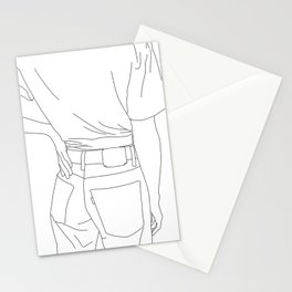 Fashion illustration line drawing - Cait Stationery Cards