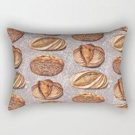 Freshly Baked Bread - Bread Lovers Artwork  Rectangular Pillow