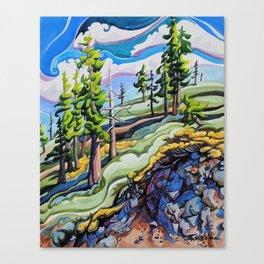 High on a Mountaintop Canvas Print
