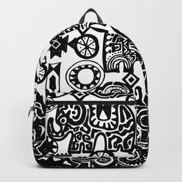 Beautiful boho pattern Indian Elephant with ornamental. Hand drawn ethnic tribal decorated Elephant Backpack