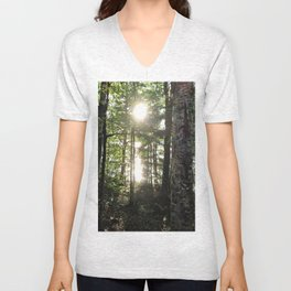 A Light at the End of the Forest Unisex V-Neck
