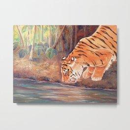 Forest Tiger Metal Print