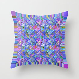 Patchwork Triangles Throw Pillow
