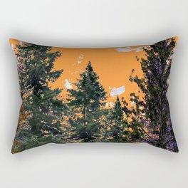 CHARCOAL GREY WESTERN PINE TREES  LANDSCAPE Rectangular Pillow