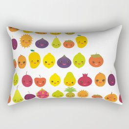 numbers for preschool kindergarten kids kawaii fruit from one to ten Rectangular Pillow