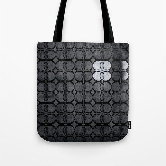 Pattern Eight Black and White Tote Bag