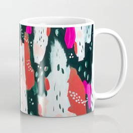 Spotted Abstract in Hot Red-Pink Coffee Mug