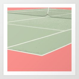 Tennis game Art Print
