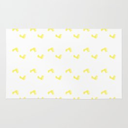 Walk On - Yellow Little Feet Pattern Rug