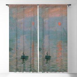 Claude Monet - Impression, Sunrise Blackout Curtain