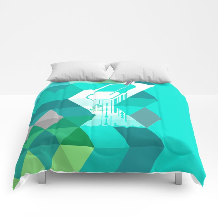 Blue Raspberry Popsicle Comforters
