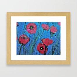 Poppies Red Framed Art Print