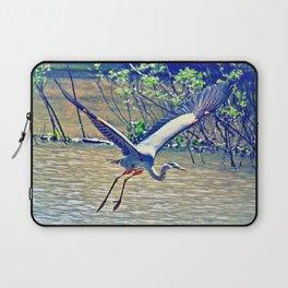 Flying (Blue Heron) Laptop Sleeve