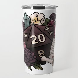 Warlock Class D20 - Tabletop Gaming Dice Travel Mug