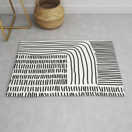 Digital Stitches thick white Rug