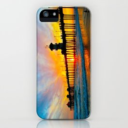 Sunset Huntington Beach Pier   iPhone Case