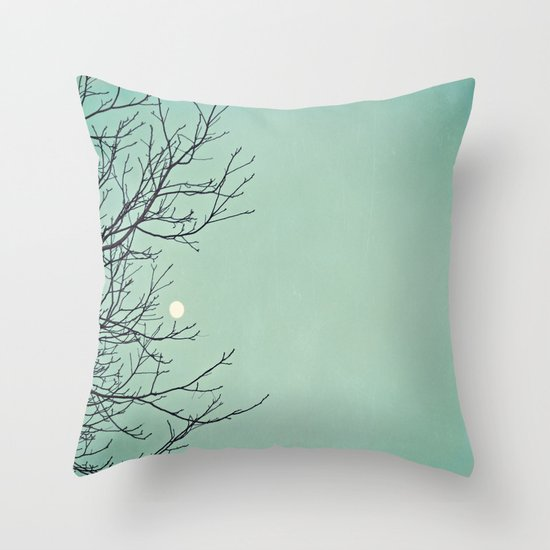 Holding the moon Throw Pillow