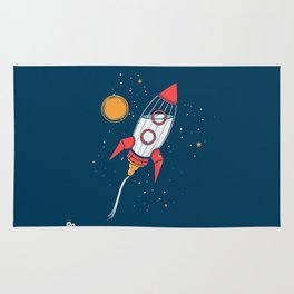 Bottle Rocket to the Milky Way Rug