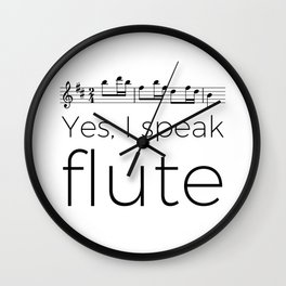 I speak flute Wall Clock