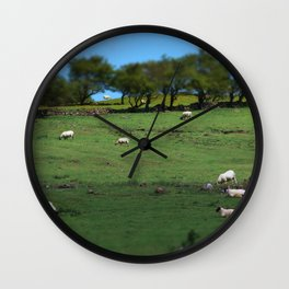Field of Irish Sheep Wall Clock