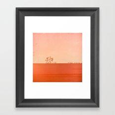 Red Wall Framed Art Print