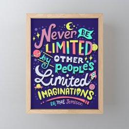 Never be limited Framed Mini Art Print