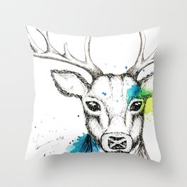Stag III Throw Pillow