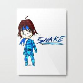 MGS - Snake Metal Print