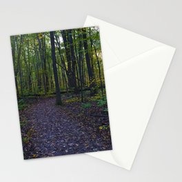 Boardwalk through the forest in southern Ontario, CA Stationery Cards