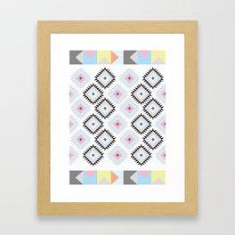 Kilim Print Framed Art Print