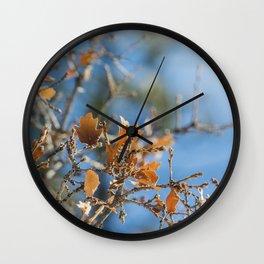 Invierno calido Wall Clock