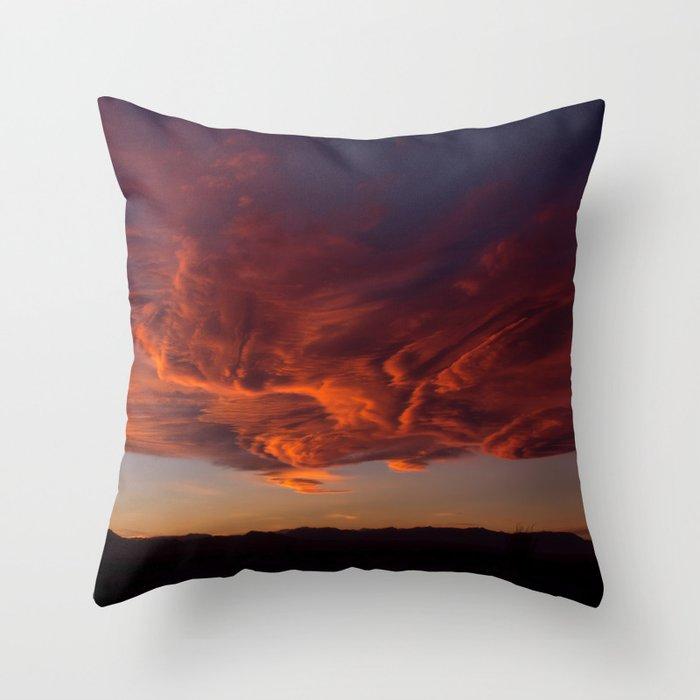 Desert Sky on Fire Throw Pillow