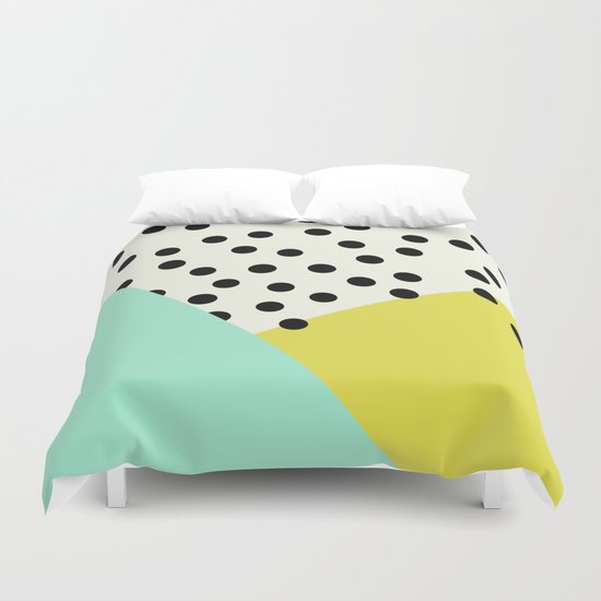 Mod dots and angles  Duvet Cover
