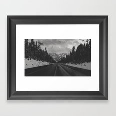 December Road Trip in the Pacific Northwest Framed Art Print